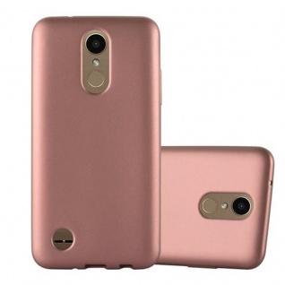 Cadorabo Hülle für LG K10 2017 in METALLIC ROSE GOLD - Handyhülle aus flexiblem TPU Silikon - Silikonhülle Schutzhülle Ultra Slim Soft Back Cover Case Bumper