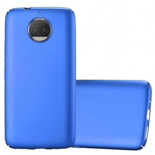 Cadorabo Hülle für Motorola MOTO G5S PLUS in METALL BLAU Hardcase Handyhülle aus Plastik gegen Kratzer und Stöße Schutzhülle Bumper Ultra Slim Back Case Hard Cover
