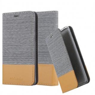 Cadorabo Hülle für Cubot J3 in HELL GRAU BRAUN - Handyhülle mit Magnetverschluss, Standfunktion und Kartenfach - Case Cover Schutzhülle Etui Tasche Book Klapp Style