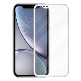 Cadorabo Vollbild Panzer Folie für Apple iPhone XR - Schutzfolie in TRANSPARENT mit WEISS - Gehärtetes (Tempered) Display-Schutzglas in 9H Härte mit 3D Touch Kompatibilität - Vorschau 2