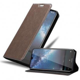 Cadorabo Hülle für Nokia 2.2 in KAFFEE BRAUN Handyhülle mit Magnetverschluss, Standfunktion und Kartenfach Case Cover Schutzhülle Etui Tasche Book Klapp Style