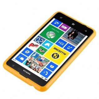 Cadorabo Hülle für Nokia Lumia 625 in JELLY GELB - Handyhülle aus flexiblem TPU Silikon - Silikonhülle Schutzhülle Ultra Slim Soft Back Cover Case Bumper - Vorschau 2