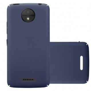 Cadorabo Hülle für Motorola MOTO C PLUS in FROSTY BLAU - Hardcase Handyhülle aus Plastik gegen Kratzer und Stöße - Schutzhülle Bumper Ultra Slim Back Case Hard Cover