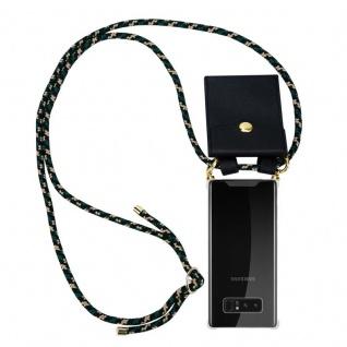 Cadorabo Handy Kette für Samsung Galaxy NOTE 8 in CAMOUFLAGE Silikon Necklace Umhänge Hülle mit Gold Ringen, Kordel Band Schnur und abnehmbarem Etui Schutzhülle