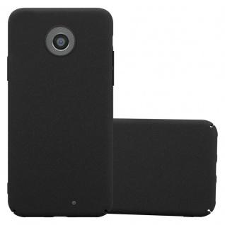 Cadorabo Hülle für Motorola MOTO G2 in FROSTY SCHWARZ Hardcase Handyhülle aus Plastik gegen Kratzer und Stöße Schutzhülle Bumper Ultra Slim Back Case Hard Cover