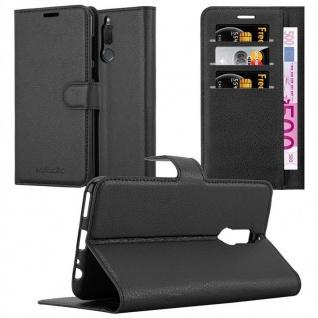 Cadorabo Hülle für Huawei MATE 10 LITE in PHANTOM SCHWARZ - Handyhülle mit Magnetverschluss, Standfunktion und Kartenfach - Case Cover Schutzhülle Etui Tasche Book Klapp Style - Vorschau 1