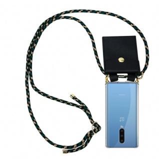 Cadorabo Handy Kette für Oneplus 8 in CAMOUFLAGE Silikon Necklace Umhänge Hülle mit Gold Ringen, Kordel Band Schnur und abnehmbarem Etui Schutzhülle