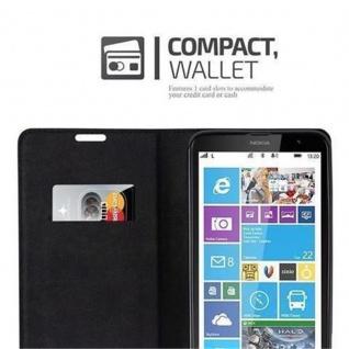 Cadorabo Hülle für Nokia Lumia 1320 in PETROL TÜRKIS - Handyhülle mit Magnetverschluss, Standfunktion und Kartenfach - Case Cover Schutzhülle Etui Tasche Book Klapp Style - Vorschau 3