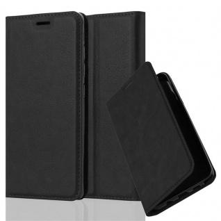 Cadorabo Hülle für Xiaomi Mi 5 in NACHT SCHWARZ - Handyhülle mit Magnetverschluss, Standfunktion und Kartenfach - Case Cover Schutzhülle Etui Tasche Book Klapp Style