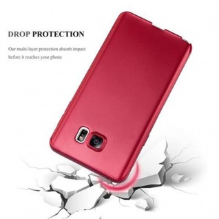Cadorabo Hülle für Samsung Galaxy NOTE 5 in METALLIC ROT - Handyhülle aus flexiblem TPU Silikon - Silikonhülle Schutzhülle Ultra Slim Soft Back Cover Case Bumper - Vorschau 4