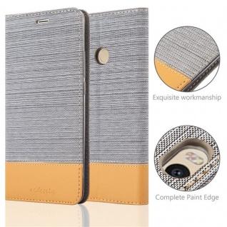 Cadorabo Hülle für Xiaomi Mi MAX 2 in HELL GRAU BRAUN - Handyhülle mit Magnetverschluss, Standfunktion und Kartenfach - Case Cover Schutzhülle Etui Tasche Book Klapp Style - Vorschau 2
