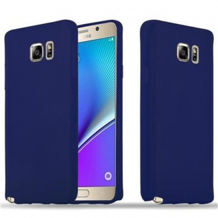 Cadorabo Hülle für Samsung Galaxy NOTE 5 in CANDY DUNKEL BLAU Handyhülle aus flexiblem TPU Silikon Silikonhülle Schutzhülle Ultra Slim Soft Back Cover Case Bumper