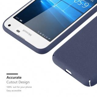 Cadorabo Hülle für Nokia Lumia 650 in FROSTY BLAU - Hardcase Handyhülle aus Plastik gegen Kratzer und Stöße - Schutzhülle Bumper Ultra Slim Back Case Hard Cover - Vorschau 4