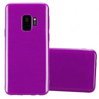 Cadorabo Hülle für Samsung Galaxy S9 in LILA - Handyhülle aus flexiblem TPU Silikon - Silikonhülle Schutzhülle Ultra Slim Soft Back Cover Case Bumper