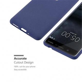 Cadorabo Hülle für Nokia 5 2017 in FROST DUNKEL BLAU - Handyhülle aus flexiblem TPU Silikon - Silikonhülle Schutzhülle Ultra Slim Soft Back Cover Case Bumper - Vorschau 2