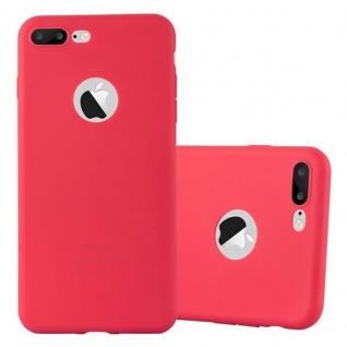 Cadorabo Hülle für Apple iPhone 8 PLUS / iPhone 7 PLUS / iPhone 7S PLUS - Hülle in CANDY ROT ? Handyhülle aus TPU Silikon im Candy Design - Ultra Slim Soft Backcover Case Bumper