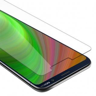 Cadorabo Panzer Folie für Nokia 7 PLUS Schutzfolie in KRISTALL KLAR Gehärtetes (Tempered) Display-Schutzglas in 9H Härte mit 3D Touch Kompatibilität