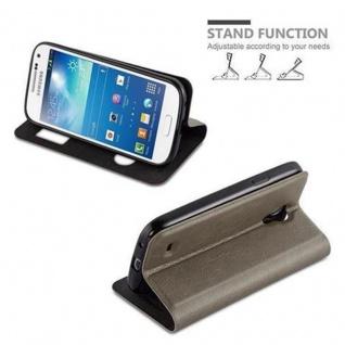 Cadorabo Hülle für Samsung Galaxy S4 in STEIN BRAUN - Handyhülle mit Magnetverschluss, Standfunktion und 2 Sichtfenstern - Case Cover Schutzhülle Etui Tasche Book Klapp Style - Vorschau 4