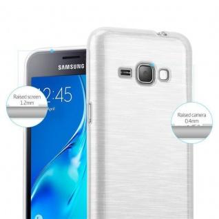 Cadorabo Hülle für Samsung Galaxy J1 2016 in SILBER - Handyhülle aus flexiblem TPU Silikon - Silikonhülle Schutzhülle Ultra Slim Soft Back Cover Case Bumper - Vorschau 2