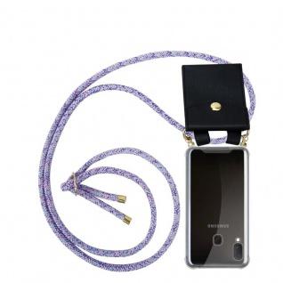 Cadorabo Handy Kette für Samsung Galaxy A20e in UNICORN Silikon Necklace Umhänge Hülle mit Gold Ringen, Kordel Band Schnur und abnehmbarem Etui Schutzhülle