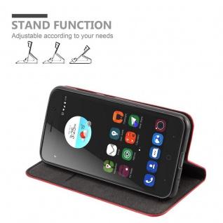 Cadorabo Hülle für ZTE BLADE A520 in APFEL ROT Handyhülle mit Magnetverschluss, Standfunktion und Kartenfach Case Cover Schutzhülle Etui Tasche Book Klapp Style - Vorschau 3