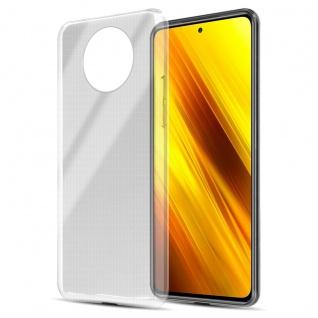 Cadorabo Hülle kompatibel mit Xiaomi Poco X3 NFC in VOLL TRANSPARENT Handyhülle aus flexiblem TPU Silikon Silikonhülle Schutzhülle Ultra Slim Soft Back Cover Case Bumper