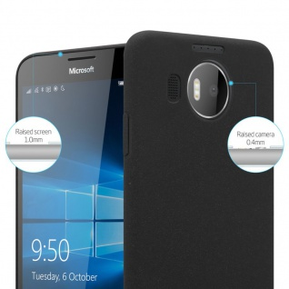 Cadorabo Hülle für Nokia Lumia 950 XL in FROSTY SCHWARZ - Hardcase Handyhülle aus Plastik gegen Kratzer und Stöße - Schutzhülle Bumper Ultra Slim Back Case Hard Cover - Vorschau 3