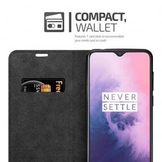 Cadorabo Hülle für OnePlus 7 in APFEL ROT Handyhülle mit Magnetverschluss, Standfunktion und Kartenfach Case Cover Schutzhülle Etui Tasche Book Klapp Style - Vorschau 4