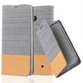 Cadorabo Hülle für Nokia Lumia 640 in HELL GRAU BRAUN - Handyhülle mit Magnetverschluss, Standfunktion und Kartenfach - Case Cover Schutzhülle Etui Tasche Book Klapp Style