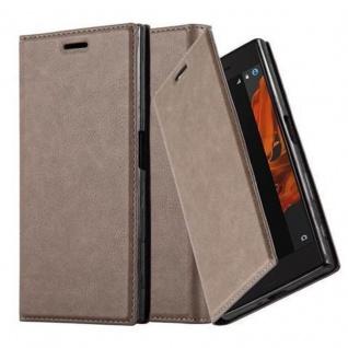 Cadorabo Hülle für Sony Xperia XZ / XZs in KAFFEE BRAUN - Handyhülle mit Magnetverschluss, Standfunktion und Kartenfach - Case Cover Schutzhülle Etui Tasche Book Klapp Style