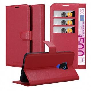 Cadorabo Hülle für Huawei MATE 20 in KARMIN ROT - Handyhülle mit Magnetverschluss, Standfunktion und Kartenfach - Case Cover Schutzhülle Etui Tasche Book Klapp Style