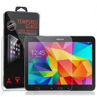 Cadorabo Panzer Folie für Samsung Galaxy Tab 4 (10, 1 Zoll) Schutzfolie in KRISTALL KLAR Gehärtetes (Tempered) Display-Schutzglas in 9H Härte mit 3D Touch Kompatibilität
