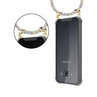 Cadorabo Handy Kette für Samsung Galaxy J5 2015 in RAINBOW - Silikon Necklace Umhänge Hülle mit Gold Ringen, Kordel Band Schnur und abnehmbarem Etui ? Schutzhülle - Vorschau 5