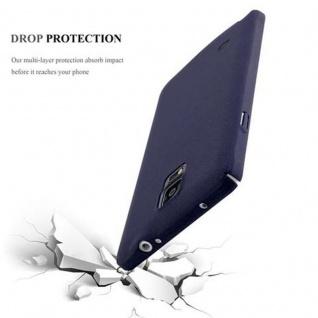 Cadorabo Hülle für Samsung Galaxy NOTE 4 in FROSTY BLAU - Hardcase Handyhülle aus Plastik gegen Kratzer und Stöße - Schutzhülle Bumper Ultra Slim Back Case Hard Cover - Vorschau 3