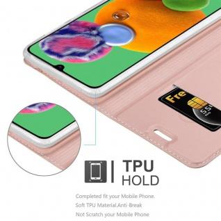 Cadorabo Hülle für Samsung Galaxy A90 5G in CLASSY ROSÉ GOLD - Handyhülle mit Magnetverschluss, Standfunktion und Kartenfach - Case Cover Schutzhülle Etui Tasche Book Klapp Style - Vorschau 4