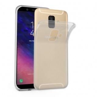 Cadorabo Hülle für Samsung Galaxy A6 2018 in VOLL TRANSPARENT - Handyhülle aus flexiblem TPU Silikon - Silikonhülle Schutzhülle Ultra Slim Soft Back Cover Case Bumper