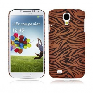 Cadorabo - Hard Cover für Samsung Galaxy S4 - Case Cover Schutzhülle Bumper im Design: BROWN TIGER