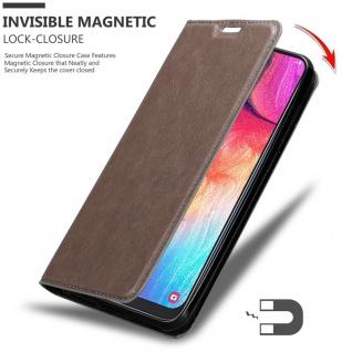 Cadorabo Hülle für Samsung Galaxy A50 in KAFFEE BRAUN - Handyhülle mit Magnetverschluss, Standfunktion und Kartenfach - Case Cover Schutzhülle Etui Tasche Book Klapp Style - Vorschau 3