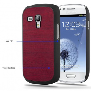 Cadorabo Hülle für Samsung Galaxy S3 MINI in WOODY ROT - Hardcase Handyhülle aus Plastik gegen Kratzer und Stöße - Schutzhülle Bumper Ultra Slim Back Case Hard Cover - Vorschau 3