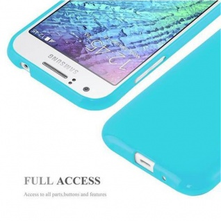 Cadorabo Hülle für Samsung Galaxy J1 2015 in JELLY HELL BLAU ? Handyhülle aus flexiblem TPU Silikon ? Silikonhülle Schutzhülle Ultra Slim Soft Back Cover Case Bumper - Vorschau 4
