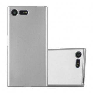 Cadorabo Hülle für Sony Xperia X Compact - Hülle in METALLIC SILBER ? Handyhülle aus TPU Silikon im Matt Metallic Design - Ultra Slim Soft Backcover Case Bumper