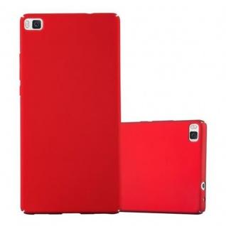 Cadorabo Hülle für Huawei P8 in METALL ROT - Hardcase Handyhülle aus Plastik gegen Kratzer und Stöße - Schutzhülle Bumper Ultra Slim Back Case Hard Cover