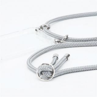 Cadorabo Handy Kette für OnePlus 6 in SILBER GRAU Silikon Necklace Umhänge Hülle mit Silber Ringen, Kordel Band Schnur und abnehmbarem Etui Schutzhülle - Vorschau 2