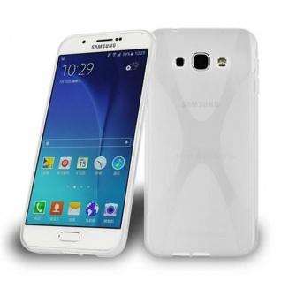 Cadorabo Hülle für Samsung Galaxy A8 2015 in HALB TRANSPARENT - Handyhülle aus flexiblem TPU Silikon - Silikonhülle Schutzhülle Ultra Slim Soft Back Cover Case Bumper