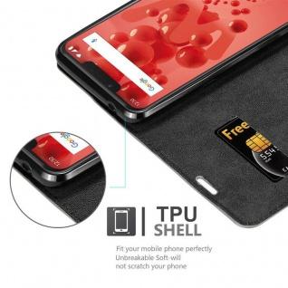 Cadorabo Hülle für WIKO VIEW 2 PLUS in KAFFEE BRAUN - Handyhülle mit Magnetverschluss, Standfunktion und Kartenfach - Case Cover Schutzhülle Etui Tasche Book Klapp Style - Vorschau 2