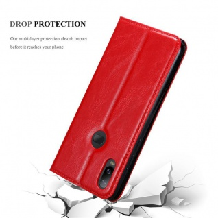 Cadorabo Hülle für Samsung Galaxy A6S in APFEL ROT Handyhülle mit Magnetverschluss, Standfunktion und Kartenfach Case Cover Schutzhülle Etui Tasche Book Klapp Style - Vorschau 5