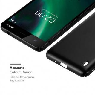 Cadorabo Hülle für Nokia 2 2017 in METALL SCHWARZ - Hardcase Handyhülle aus Plastik gegen Kratzer und Stöße - Schutzhülle Bumper Ultra Slim Back Case Hard Cover - Vorschau 5