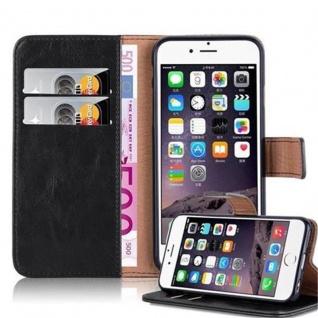 Cadorabo Hülle für Apple iPhone 6 / iPhone 6S in GRAPHIT SCHWARZ - Handyhülle mit Magnetverschluss, Standfunktion und Kartenfach - Case Cover Schutzhülle Etui Tasche Book Klapp Style