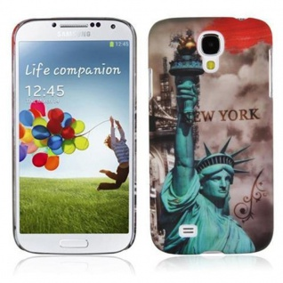 Cadorabo - Hard Cover für Samsung Galaxy S4 - Case Cover Schutzhülle Bumper im Design: NEW YORK - FREIHEITSSTATUE