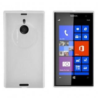 Cadorabo Hülle für Nokia Lumia 1020 in HALB TRANSPARENT - Handyhülle aus flexiblem TPU Silikon - Silikonhülle Schutzhülle Ultra Slim Soft Back Cover Case Bumper
